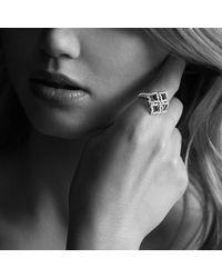 David Yurman - Pink Venetian Quatrefoil Ring With Diamonds In Rose Gold - Lyst