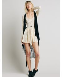 Free People Natural Intimately Womens Look Both Ways Lace Slip