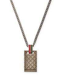 Gucci Metallic Mens Diamantissima Necklace for men
