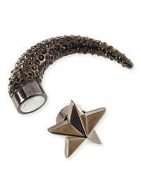 Givenchy | Gray Single Small Star Pave Crystal Shark-Tooth Earring | Lyst