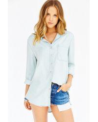 BDG - Blue Olly Chambray Shirt - Lyst