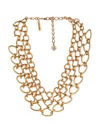 Oscar de la Renta | Metallic Twisted-Rope Necklace | Lyst