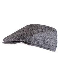Black.co.uk | Gray Herringbone Cashmere Flat Cap for Men | Lyst