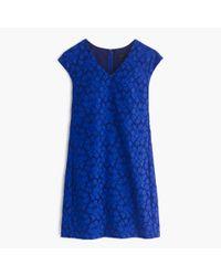 J.Crew - Blue Sleeveless Lace Shift Dress - Lyst