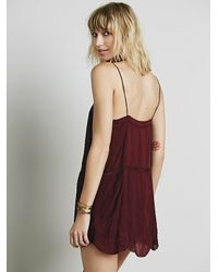Free People - Purple Sunset Romper - Lyst