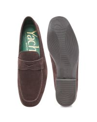Fratelli Rossetti Brown Yacht Suede Penny Loafers for men