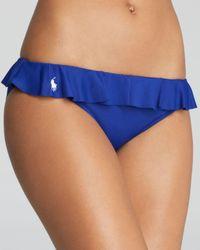 Ralph Lauren - Pink Blue Label Ruffle Dylan Hipster Bikini Bottom - Lyst