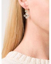 Marie-hélène De Taillac | Blue 22kt Gold Aquamarine Star Drop Earrings | Lyst