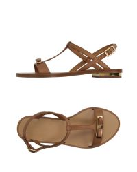 Ferragamo | Brown Sandals | Lyst