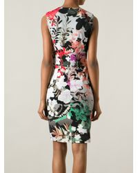 Roberto Cavalli - Multicolor Floral Print Dress - Lyst
