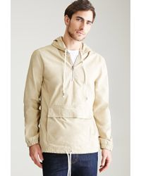 Forever 21 | Natural Hooded Cotton Canvas Anorak | Lyst