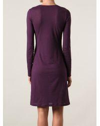 Ann Demeulemeester Blanche - Purple 'Siene' Jersey Dress - Lyst
