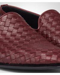 Bottega Veneta Purple Aubergine Intrecciato Foulard Calf Outdoor Slipper for men