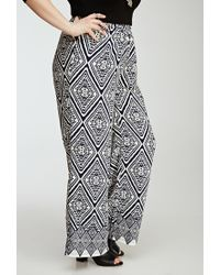 Forever 21 - Blue Abstract Diamond Print Pants - Lyst