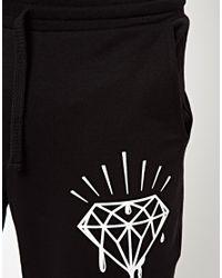 ASOS - Black Skinny Sweatpants with Diamond Print for Men - Lyst