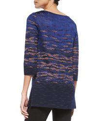 St. John - Blue Sunset Jacquard Knit Tunic - Lyst