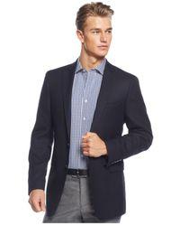 Calvin Klein Blue Neat Classic-fit Sport Coat for men