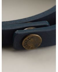 DIESEL - Blue 'Ageft' Bracelet for Men - Lyst