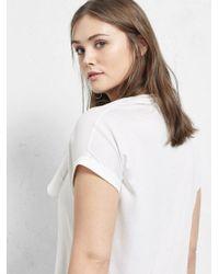 Violeta by Mango Natural Ruffle T-shirt