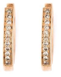 Wouters & Hendrix   Pink Diamond Hoop Earrings   Lyst