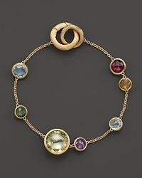 Marco Bicego - Metallic 18k Yellow Gold Jaipur Bracelet With Mixed Semi-precious Gemstones - Lyst