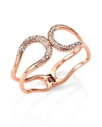 Alexis Bittar | Pink Miss Havisham Liquid Crystal Hinged Bracelet/rose Goldtone | Lyst