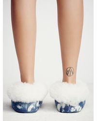 Free People | Blue Ariana Bohling Womens Winter Cabin Slipper | Lyst