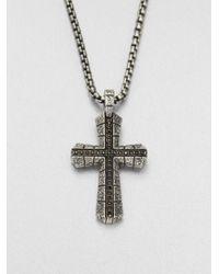 Stephen Webster | Metallic Sterling Silver Cross Pendant Necklace | Lyst