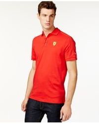 PUMA | Red Men's Ferrari Polo Shirt for Men | Lyst