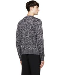 Calvin Klein | Black Static Knit Sweater for Men | Lyst