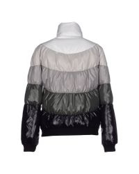 Les Copains | Gray Down Jacket | Lyst