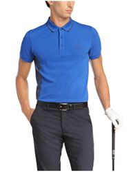 BOSS Green - Blue 'paule Pro' | Slim Fit, Moisture Manager Cotton Polo Shirt for Men - Lyst