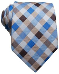 Perry Ellis - Blue Justin Check Slim Tie for Men - Lyst