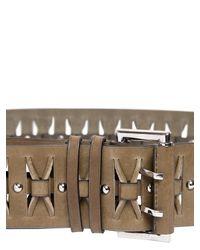 Emilio Pucci - Green 60mm Leather High Waist Belt - Lyst