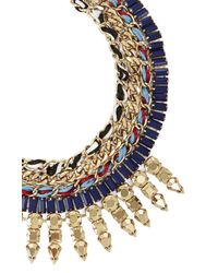 BCBGMAXAZRIA | Blue Woven Tribal Spiked Necklace | Lyst