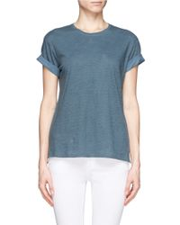 Vince Blue Rolled Sleeve Jersey T-shirt