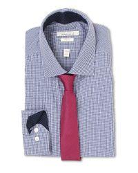 Perry Ellis - Blue Slim Fit Print Check Shirt for Men - Lyst