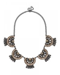 BaubleBar | Metallic Crystal Mantilla Collar | Lyst