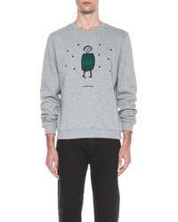 Carven - Gray Mens Little Man Cotton Sweater - Lyst