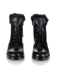 Lanvin Black Python Skin Boot