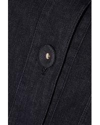 Love Moschino Blue Stretch-Denim Coat