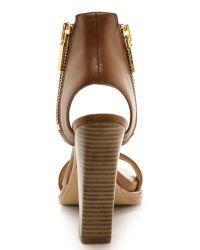 Rachel Zoe Brown Jamie Cuffed Sandals - Tan