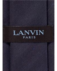 Lanvin Blue Silk Shantung Tie for men