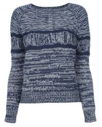 Vanessa Bruno Athé - Blue Chunkyknit Sweater - Lyst