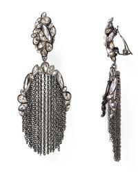 Alexis Bittar - Gray Miss Havisham Moonlight Tassel Clip On Earrings - Lyst