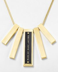 Marc By Marc Jacobs - Metallic Sliding Bars Necklace 20 - Lyst
