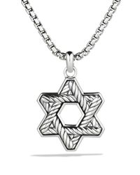 David Yurman - Metallic Exotic Stone Reversible Star Of David for Men - Lyst
