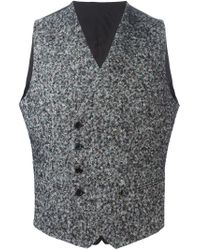 Tagliatore - Gray Double Breasted Waistcoat for Men - Lyst