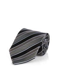 BOSS - Black 'tie 7.5 Cm' | Regular, Silk Repp Stripe Tie for Men - Lyst