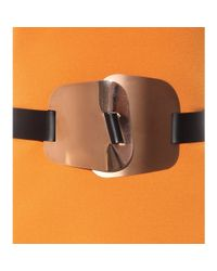 ROKSANDA Metallic Embellished Leather Belt